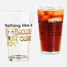 Golden Oldie Drinking Glass
