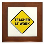 Teacher At Work Framed Tile