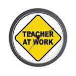 Teacher At Work Wall Clock