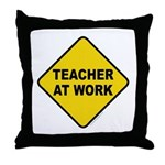 Teacher At Work Throw Pillow