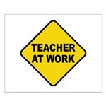 Teacher At Work Small Poster