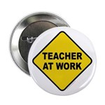 Teacher At Work Button