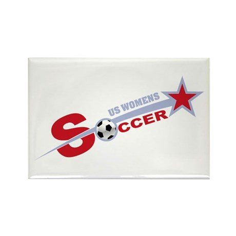 US Women's Soccer Rectangle Magnet (10 pack)