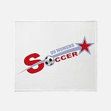 US Women's Soccer Throw Blanket