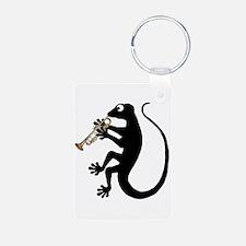 Gecko Trumpet Keychains