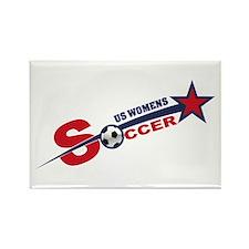 US Women's Soccer Rectangle Magnet