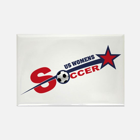 US Women's Soccer Rectangle Magnet