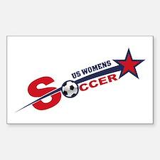 US Women's Soccer Sticker (Rectangle)