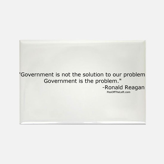 Reagan: Government is not the solution Rectangle M