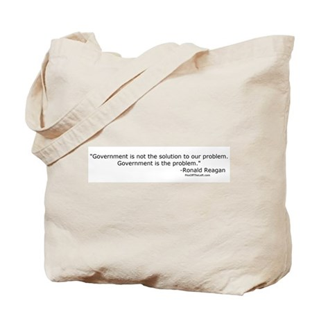 Reagan: Government is not the solution Tote Bag