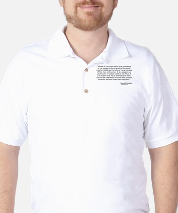 Moral courage of free men and women Golf Shirt