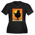 Schietti Modena Pigeon Women's Plus Size V-Neck Da