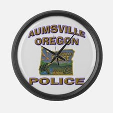 Aumsville Police Large Wall Clock