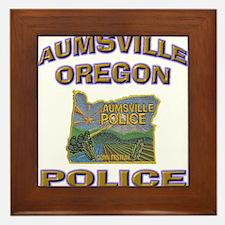 Aumsville Police Framed Tile
