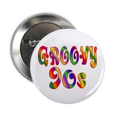 """Groovy 90s 2.25"""" Button"""