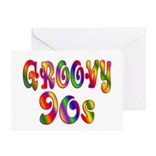 Groovy 90s Greeting Card