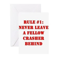 Crashing Rule #1 Greeting Cards (Pk of 10)