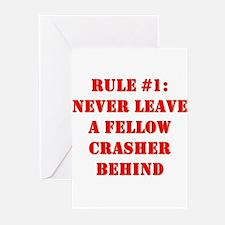 Crashing Rule #1 Greeting Cards (Pk of 10)