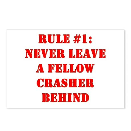 Crashing Rule #1 Postcards (Package of 8)