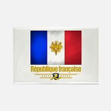 French Flag/Emblem Rectangle Magnet