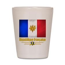 French Flag/Emblem Shot Glass