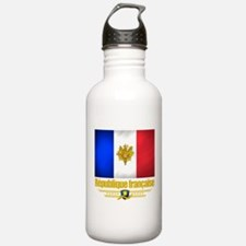 French Flag/Emblem Water Bottle