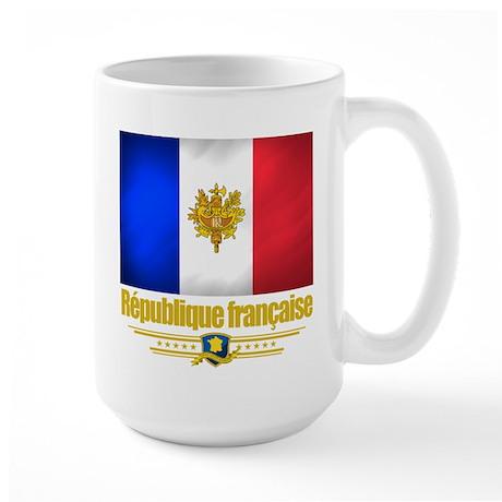 French Flag/Emblem Large Mug