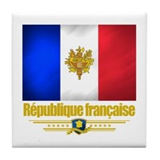 French Flag/Emblem Tile Coaster