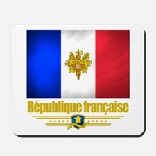 French Flag/Emblem Mousepad