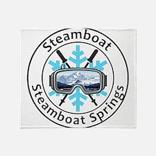 Steamboat Ski Resort - Steamboat S Throw Blanket