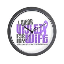 I Wear Violet 6 Hodgkin's Lymphoma Wall Clock