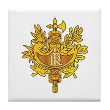 French Emblem Tile Coaster