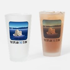 Arctic Polar Bear Drinking Glass