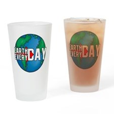 Earth Day Every Day Drinking Glass
