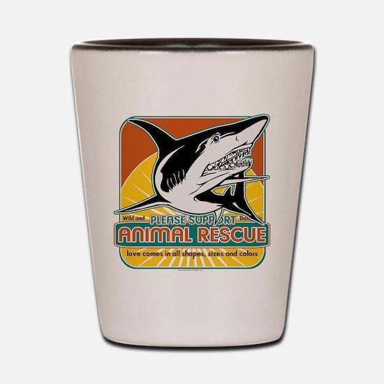 Animal Rescue Shark Shot Glass