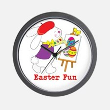 Easter Fun Wall Clock