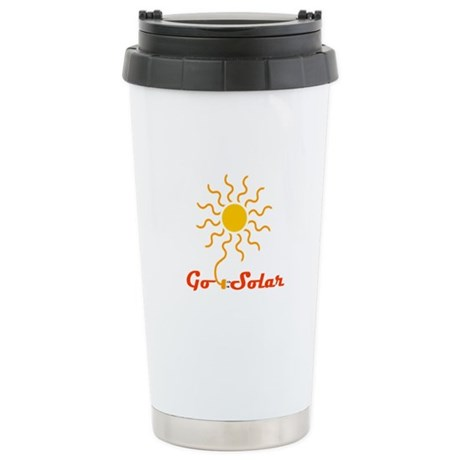 Go Solar Stainless Steel Travel Mug