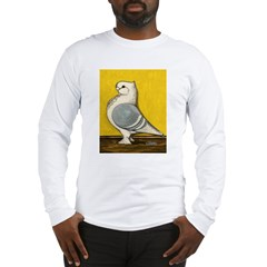 Blue Satinette Pigeon Long Sleeve T-Shirt