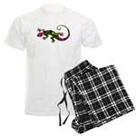 Green Purple Gecko Men's Light Pajamas