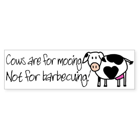 Cows are for Mooing Bumper Sticker