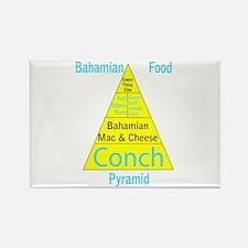 Bahamian Food Pyramid Rectangle Magnet
