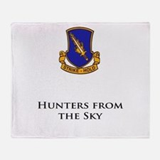 504- Hunters from the Sky Throw Blanket