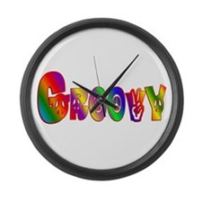 GROOVY Large Wall Clock