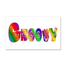 GROOVY Car Magnet 20 x 12