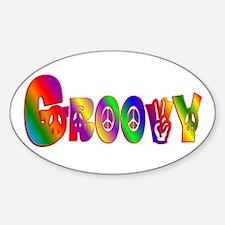 GROOVY Sticker (Oval)