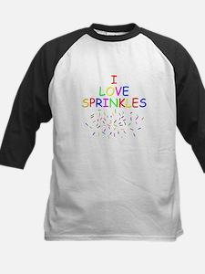 I love Sprinkles Kids Baseball Jersey