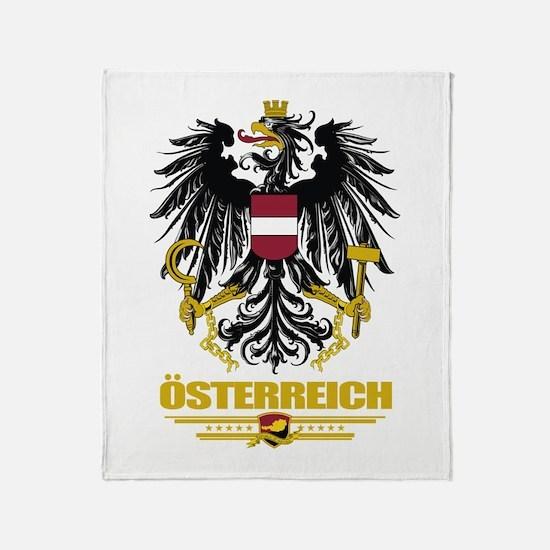 Osterreich COA Throw Blanket