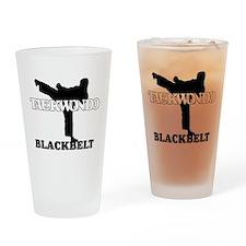 TaeKwonDo Black Belt Drinking Glass