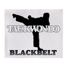 TaeKwonDo Black Belt Throw Blanket
