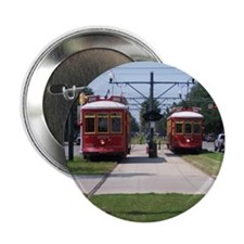 "Red Streetcar 2.25"" Button"